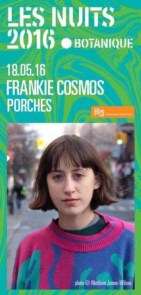 Les Nuits Botanique 2016 - Frankie Cosmos & Porches